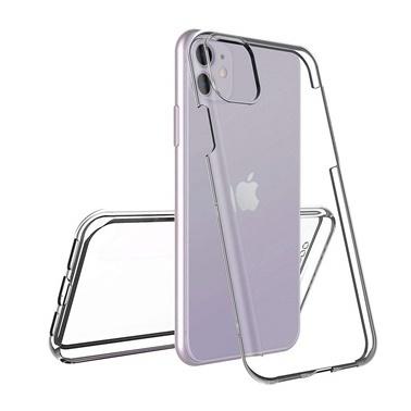 Microsonic Apple iPhone 11 (6.1'') Kılıf 6 tarafı tam full koruma 360 Clear Soft Şeffaf Renksiz